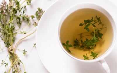 Tisane d'hiver au gingembre et au thym