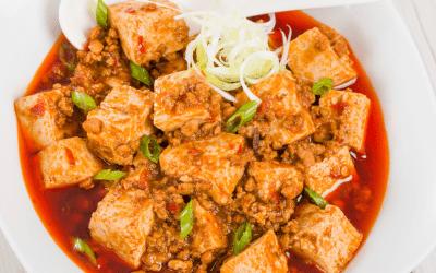 Tofu sichuanais
