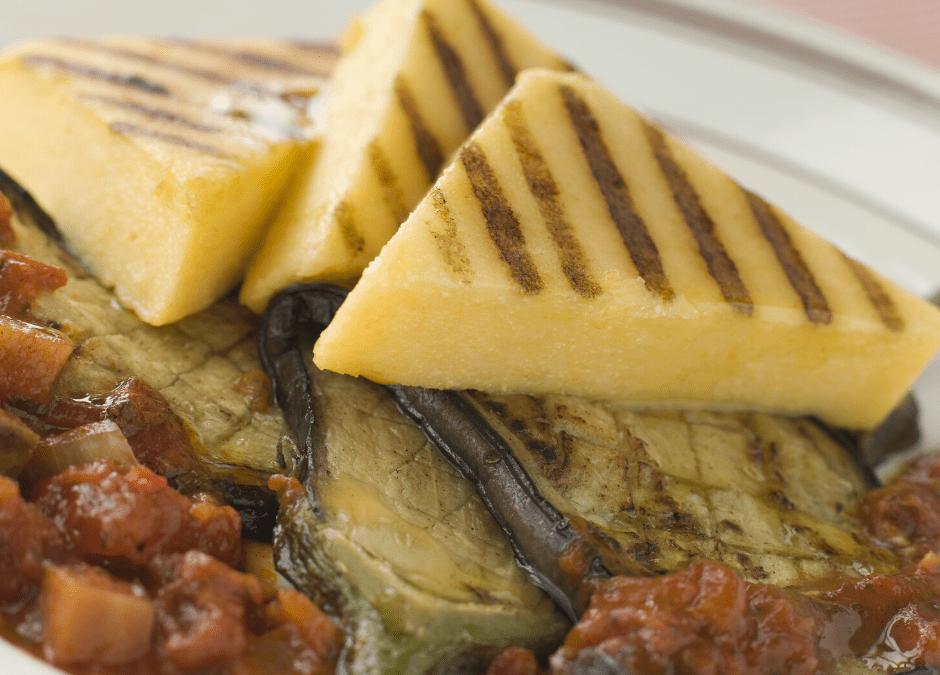 Tempeh cacciatore et polenta grillée