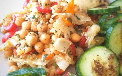 Salade de chou-fleur rôtis et pois chiches à la menthe