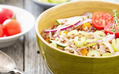 Salade de riz aux légumes croquants #roadtrip